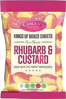 3 x Crillys Rhubarb & Custard (130g) British Sweets/Candy