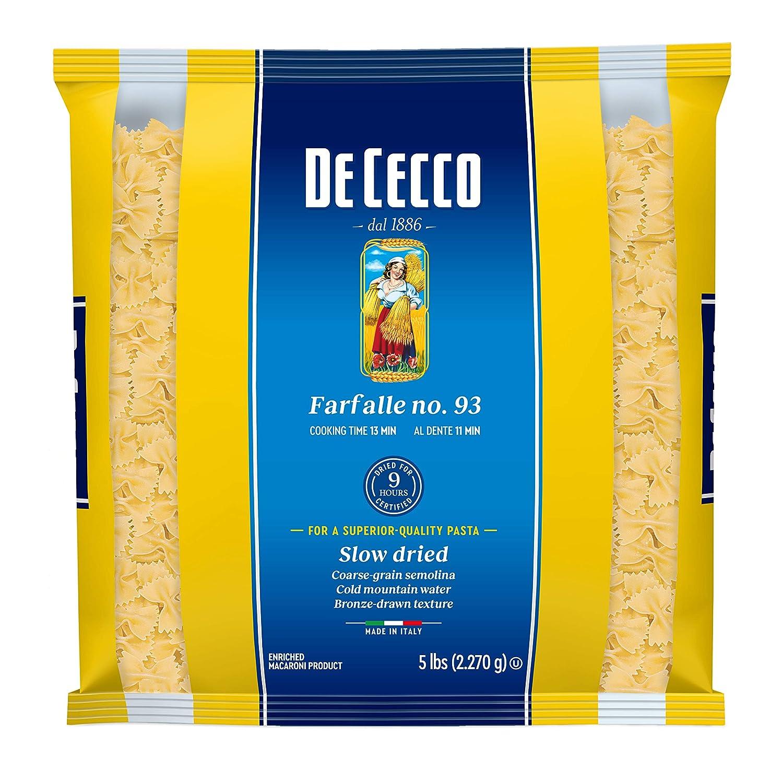 De Be super welcome Cecco Semolina Pasta Farfalle No.93 Elegant Pack of 4 5 Pound