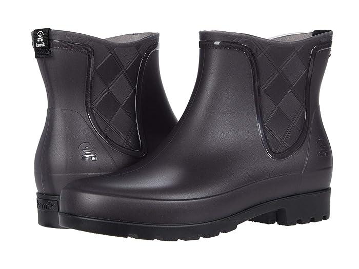 Vintage Boots, Retro Boots Kamik Pippa Charcoal Womens Rain Boots $44.95 AT vintagedancer.com