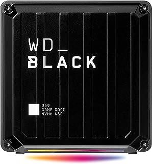 WD_Black D50 Game Dock 2 TB (2x Thunderbolt 3 Anschlüsse, DisplayPort 1.4, 2x USB C, 3x USB A, Audio Ein/Aus und Gigabit Ethernet anpassbare RGB Beleuchtung) schwarz