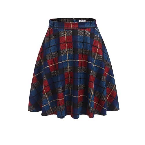 Blue Plaid Skirts Amazoncom