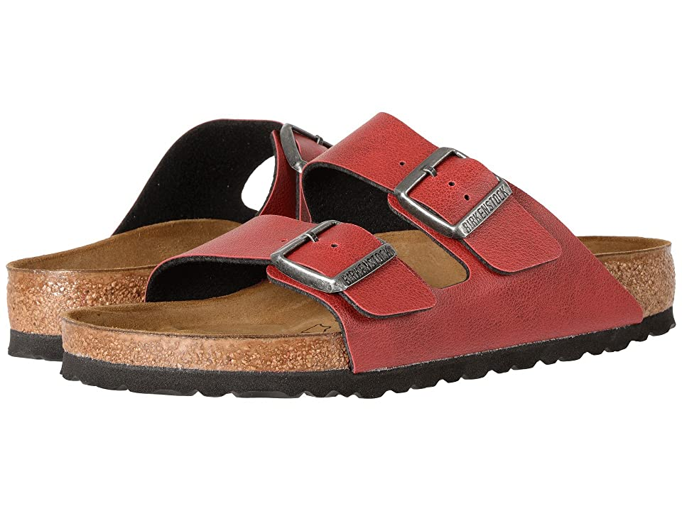 7c32e7831b33 Birkenstock Arizona (Bordeaux Birko-Flor Pull Up) Shoes