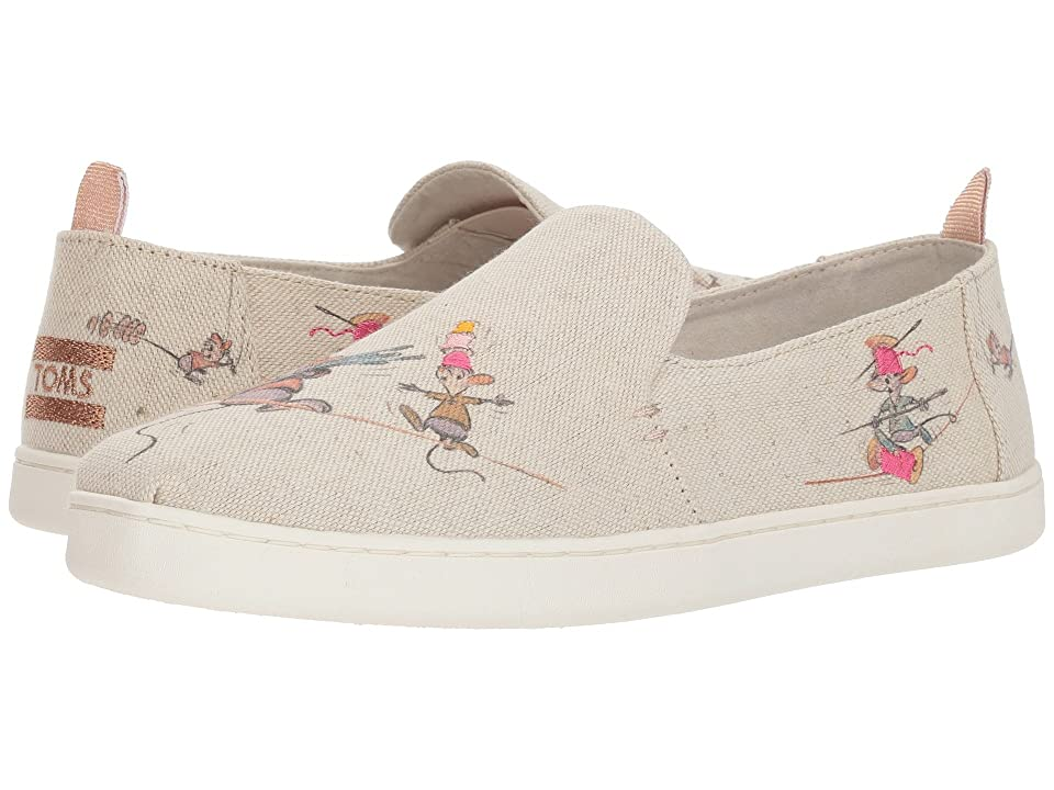 TOMS Disney(r) Deconstructed Alpargata (Taupe Gus & Jaq Canvas) Women