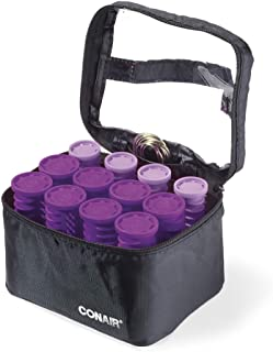 Conair Instant Heat Compact Hot Rollers w/Ceramic Technology; Black Case with Purple Rollers, 1 Count