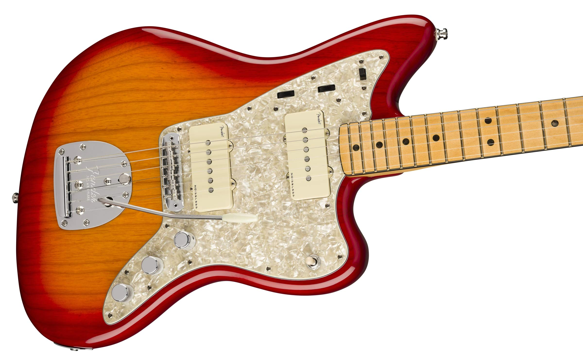 Fender American Ultra Jazzmaster MN Plasma Red Burst con funda ...