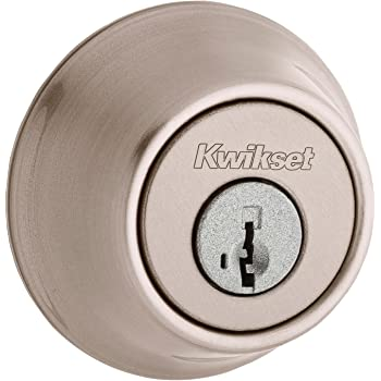 Kwikset Satin Nickel Single Cylinder and Lever PackModel 991TNL15SMTCPK4