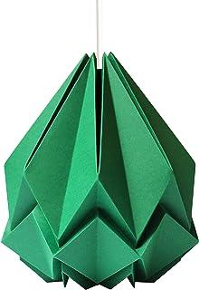 Sospensione origami in carta verde abete taglia M