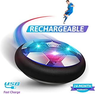BROADREAM Kids Toys Hover Soccer Ball, Rechargeable Air...