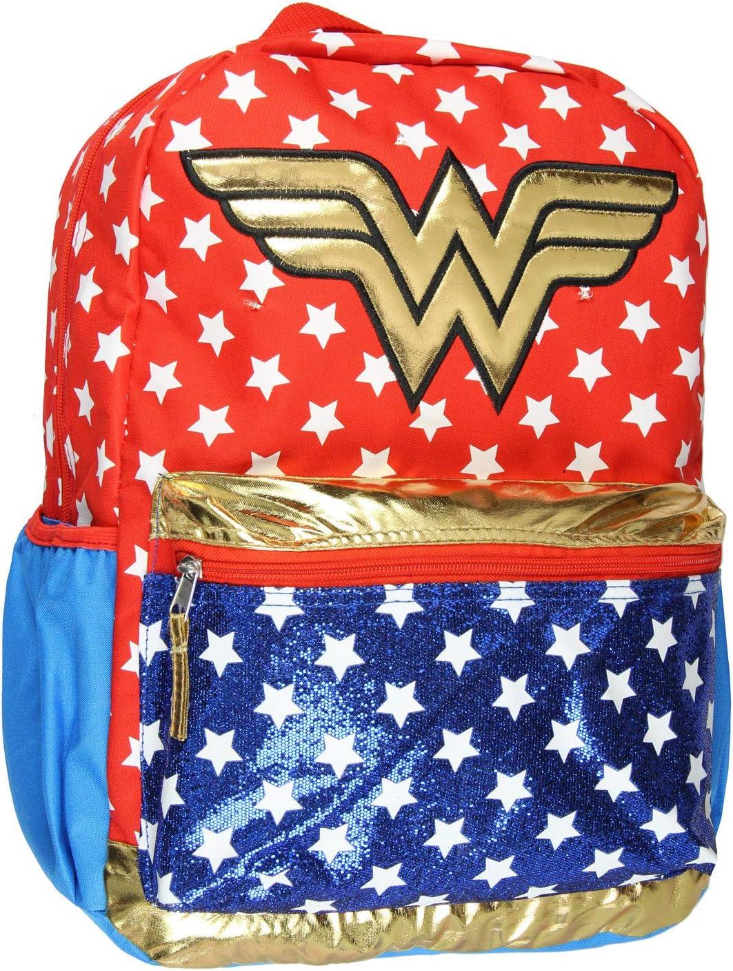 DC Comics San Jose Mall Wonder Attention brand Woman Backpack Light Motion Glittery Up 16