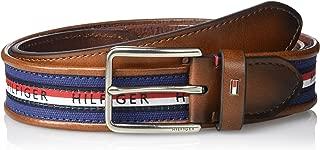 Men's Ribbon Inlay Belt - Fabric Belt with Single Prong...