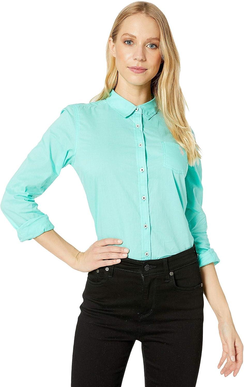 U.S. Polo Assn. Juniors' Long Sleeve Classic Solid Poplin Woven Shirt