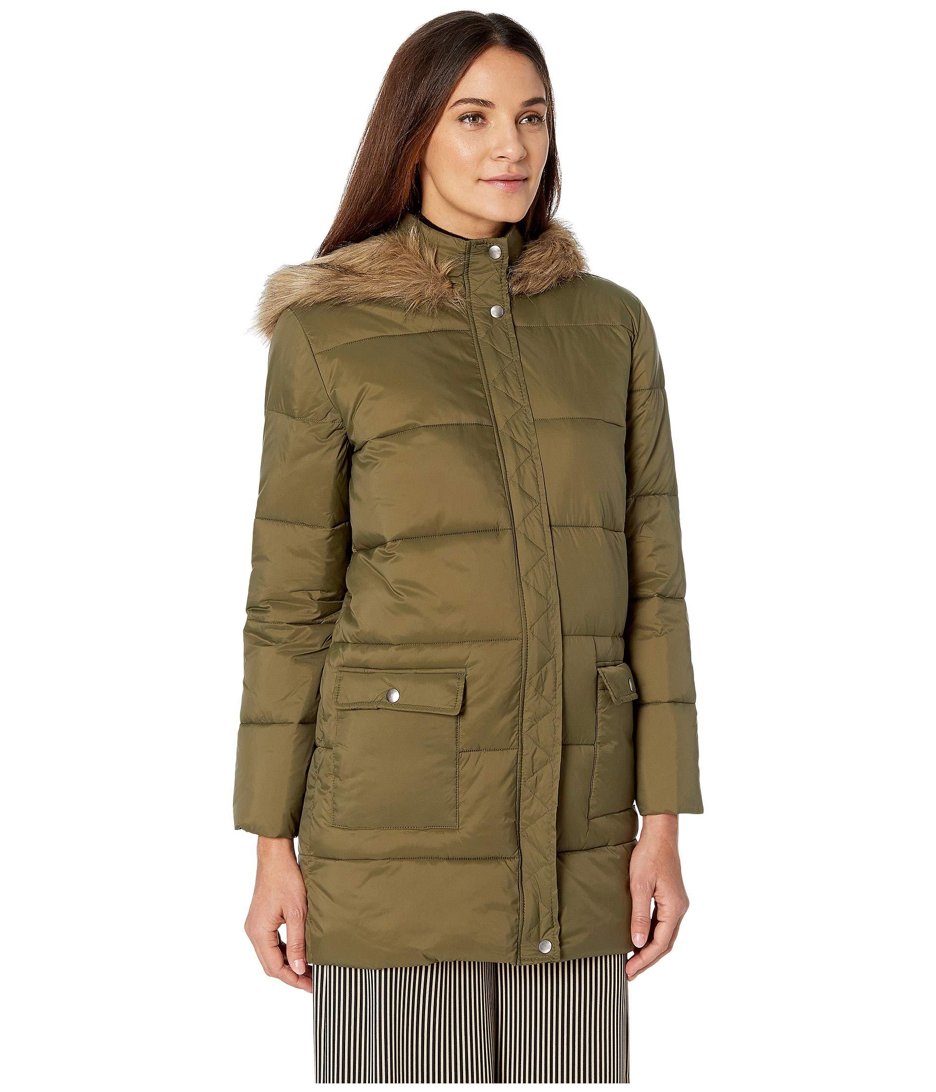 Jack Moon Nylon Walker Jacket Fur Olive Dakota With Puffer By Hood lined Bb qBHxtABr