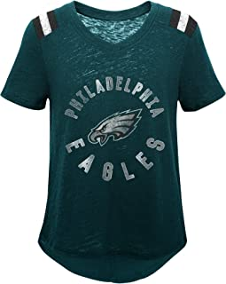 Youth X-Large 16 Outerstuff NFL Philadelphia Eagles Youth Boys Team Captain Long Sleeve Slub Tee Jade