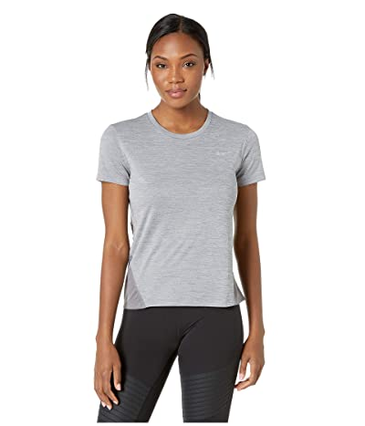 Nike Miler Top Short Sleeve (Gunsmoke/Heather/Reflective Silver) Women