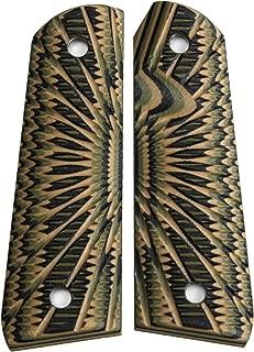 StonerCNC Ruger 22-45 Pistol Gun Grips G10 Aggressive Starburst Design 22lr SR22/45 and 22/45 Lite