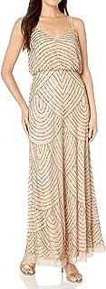 Women's Long Beaded Blouson Gown