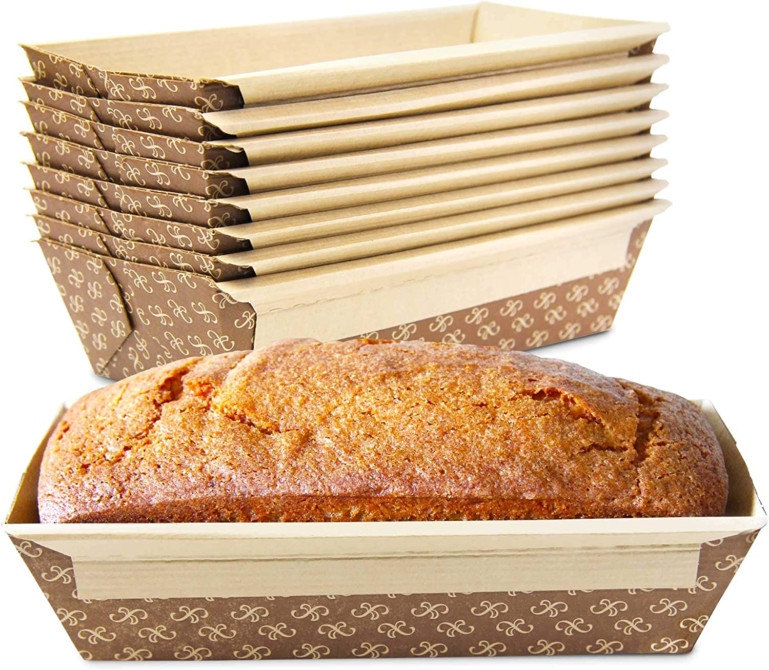 370 Pack Austin Mall 1 LB Kraft Paper Bread Loaf Disposable Corrugated Milwaukee Mall Pan