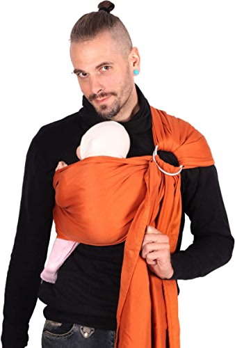 SchMUSEWOLKE Porte-bébé nouveau-né avec porte-bébé en coton bio