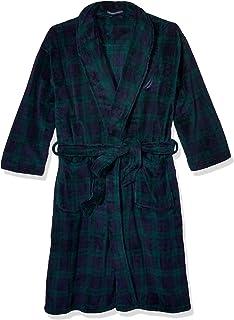 Nautica Men's Long Sleeve Cozy Soft Plush Shawl Collar Robe
