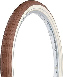 Deli Tire 26 x 2.35 Folding Bead, Beach Cruiser Bike Tire, Brown/Cream Sidewalls, Reflective