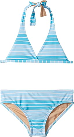 Toobydoo - Aqua Stripe Bikini (Infant/Toddler/Little Kids/Big Kids)
