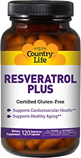 Country Life Resveratrol Plus (veg Caps), 120-Count