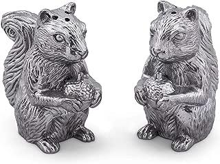 Arthur Court Aluminum Squirrels Salt & Pepper Set 4