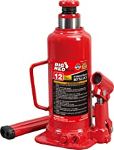 Torin Big Red Hydraulic Bottle Jack, 12 Ton Capacity