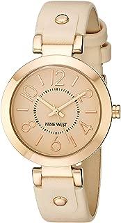 Reloj de pulsera para mujer con caja en tono oro rosa y correa rosa