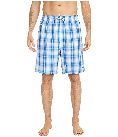 Nautica Sleep Plaid Shorts (Light Haze) Men