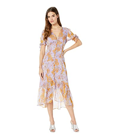 ASTR the Label Chandler Dress (Electric Lilac Floral) Women