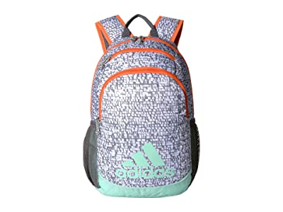adidas Kids Young BTS Creator Backpack (Little Kids/Big Kids) (White Dapple/Clear Mint/Hi-Res Coral/Onix) Backpack Bags
