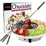Chocolate Fondue Maker - 110V Electric Chocolate Melting Pot Set with 4 Steel Forks