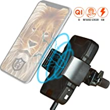 A'O Wireless Car Charger, Fast Charging Phone Mount Compatible with Qi enabled iPhone X Xs Xr 8 Max 8Plus 7 6s SE Samsung Galaxy S9 S8 Edge S7 S6 Note8 9 Nokia Androids etc. Air Vent Adjustable Holder