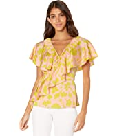 Kate Spade New York - Splash Ruffle Wrap Top