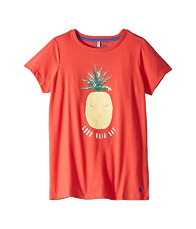 Joules Kids Astro T-Shirt (Toddler/Little Kids/Big Kids) (Coral Pineapple) Girl
