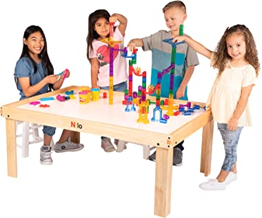 NILO N51NM Kid's Play Table Compatible with Legos, Duplo, Trains, Games, Building, Lincoln Logs Safe Fun for Children Edu