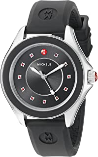 MICHELE Women's MWW27A000006 CAPE Analog Display Swiss Quartz Black Watch