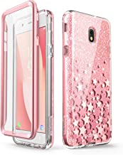 i-Blason Case Designed for Galaxy J7 2018, Cosmo Series Built-in Screen Protector Full-Body Glitter Bling Bumper Protective Case for Galaxy J7 (SM-J737), Not fit J7 2017 (SM-J727) (Pink)