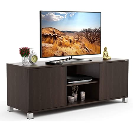 """BLUEWUD Harmond Engineered Wood TV Entertainment Unit Cabinet with Storage for Living Room -Ideal for Upto 50"""" Tv (Wenge Finish)"""