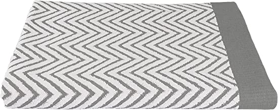 Luxuriously Oversized Bleach Safe Beach Towel Chevron Design- Fibertone by 1888 Mills, Grey