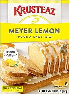 Krusteaz Meyer Lemon Pound Cake and Glaze Mix, 16.5-Ounce Boxes (Pack of 12)