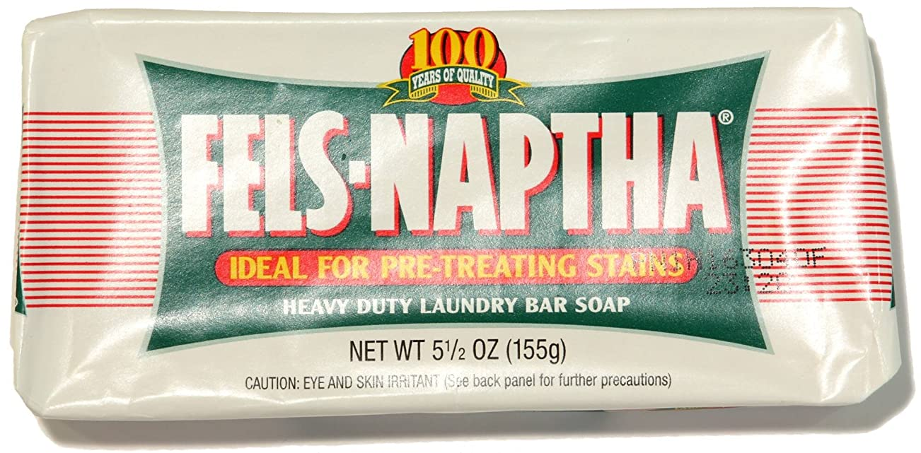 Pack of 2 Fels Naptha Heavy Duty Laundry Bar Soap & Stain Remover 5.5oz by Dial