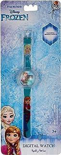ساعة يد رقمية للبنات برسمة فروزن من ديزني مع قطع لامعة طافية - SA7101 فروزن-B