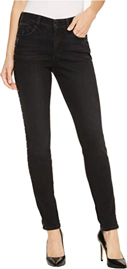 Ami Skinny Legging Jeans w/ Studs in Future Fit Denim in Campaign