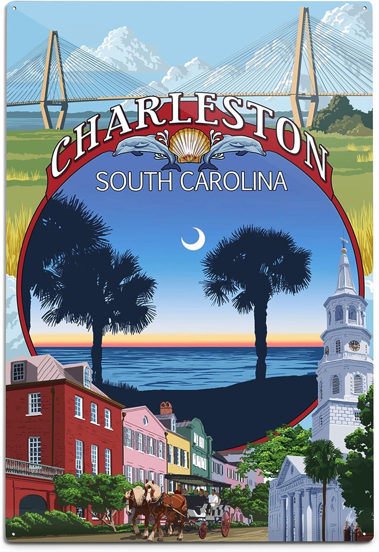 Lantern Press Charleston South Reservation Carolina Town 12x1 32682 A surprise price is realized Views