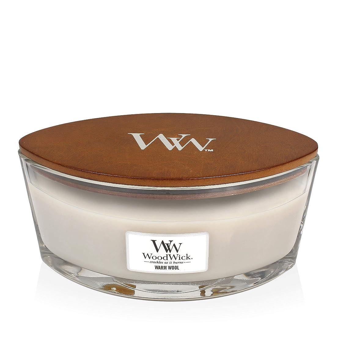 変な風邪をひく専門WoodWick WARM WOOL HearthWick 炎で香るキャンドル