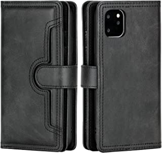 Wallet Case for iPhone 11 Pro, PU Leather Holster,Flip Cover Card Holder Slots with Magnetic Closure and Wrist Strap,Cash ...