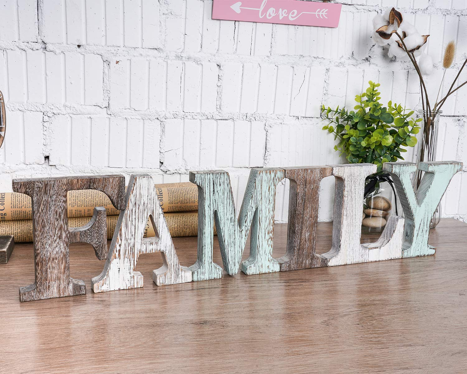 Wood Family Signs Wall Decor Decorative Wooden Blocks Rustic Letters Cutout Farmhouse Home Decor Multicolor Bedroom Kitchen Living Room Table Centerpiece Words Freestanding With Double Sided Tape Decorative Accessories Amazon Com Au