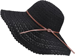 Damen Faltbarer Sonnenhut UPF Flexible Sommer Strand Strohhut mit Sonnenschutz breite Krempe Damen Mode Hut aus Baumwolle